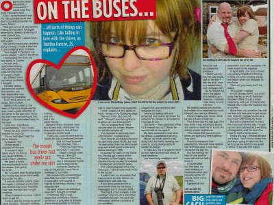 On the buses...
