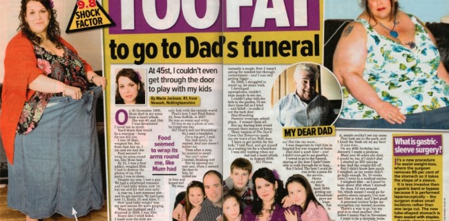 Too fat to go to my dad's funeral