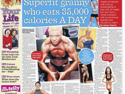 Superfit granny who eats 35
