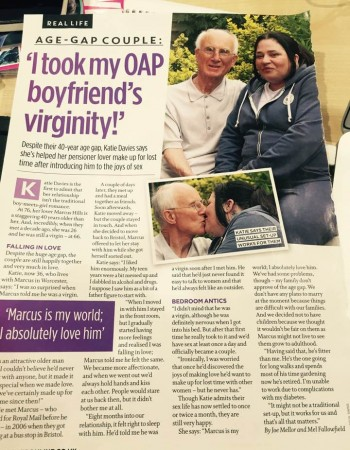 I took my OAP boyfriend's virginity