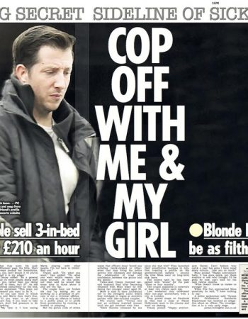 Sleazy PC selling three-in-a-bed romps for £210 an hour after being signed off work for 'stress'
